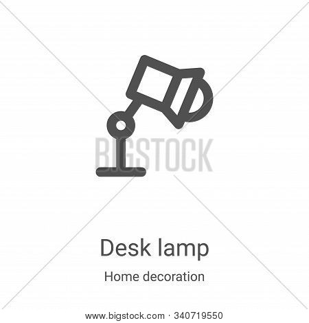 desk lamp icon isolated on white background from home decoration collection. desk lamp icon trendy a