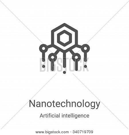 nanotechnology icon isolated on white background from artificial intelligence collection. nanotechno