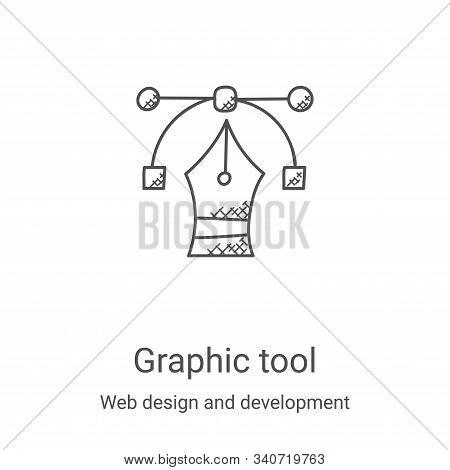 graphic tool icon isolated on white background from web design and development collection. graphic t