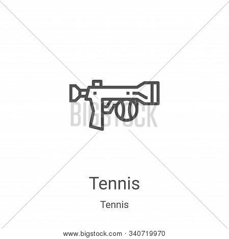 tennis icon isolated on white background from tennis collection. tennis icon trendy and modern tenni