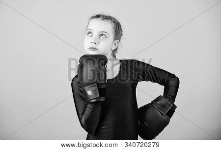 Boxer Child In Boxing Gloves. Female Boxer Change Attitudes Within Sport. Rise Of Women Boxers. Girl