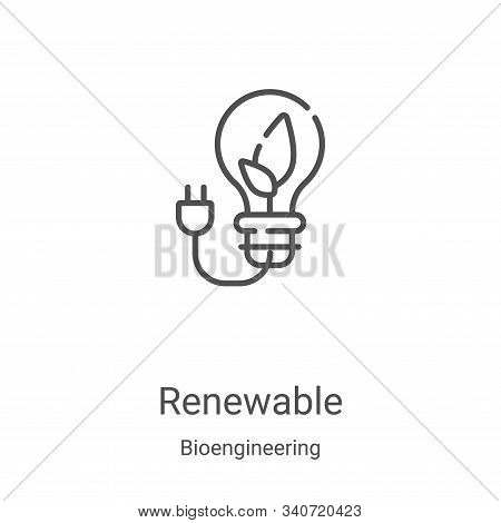 renewable icon isolated on white background from bioengineering collection. renewable icon trendy an