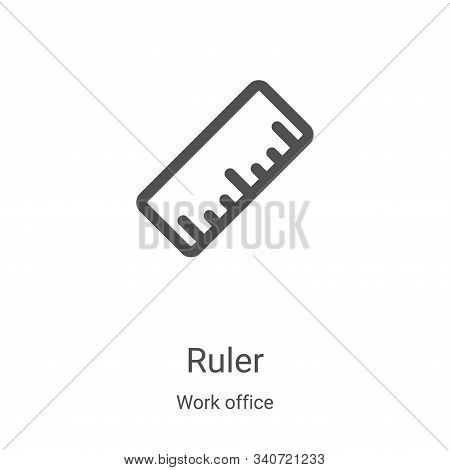 ruler icon isolated on white background from work office collection. ruler icon trendy and modern ru