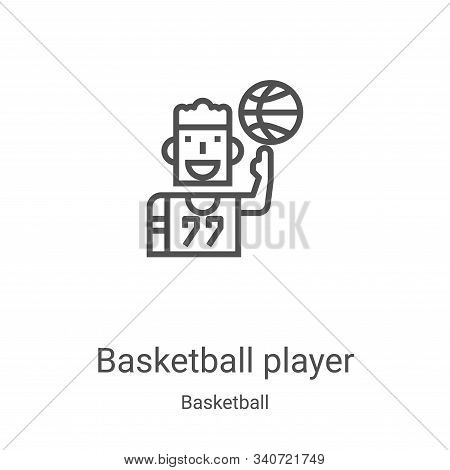 basketball player icon isolated on white background from basketball collection. basketball player ic