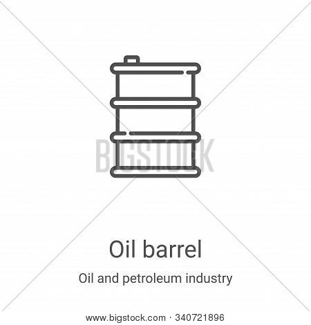 oil barrel icon isolated on white background from oil and petroleum industry collection. oil barrel