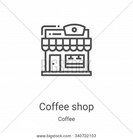 coffee shop icon isolated on white background from coffee collection. coffee shop icon trendy and mo