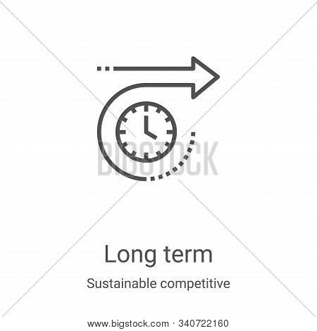 long term icon isolated on white background from sustainable competitive advantage collection. long