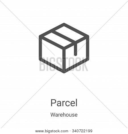 parcel icon isolated on white background from warehouse collection. parcel icon trendy and modern pa