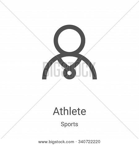 athlete icon isolated on white background from sports collection. athlete icon trendy and modern ath
