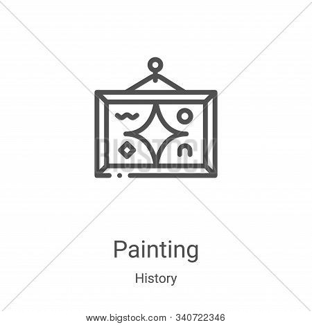 painting icon isolated on white background from history collection. painting icon trendy and modern