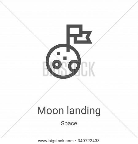 moon landing icon isolated on white background from space collection. moon landing icon trendy and m
