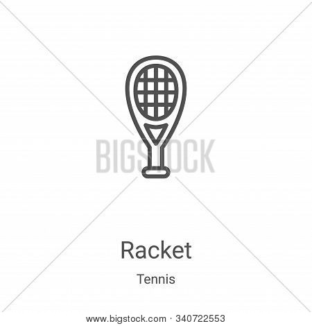 racket icon isolated on white background from tennis collection. racket icon trendy and modern racke