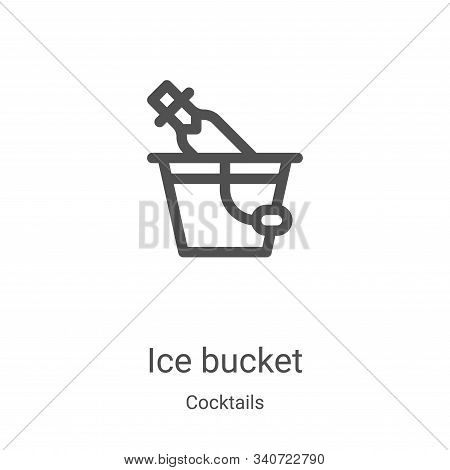 ice bucket icon isolated on white background from cocktails collection. ice bucket icon trendy and m