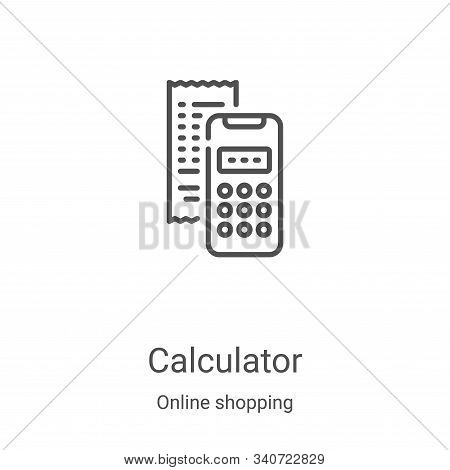 calculator icon isolated on white background from online shopping collection. calculator icon trendy