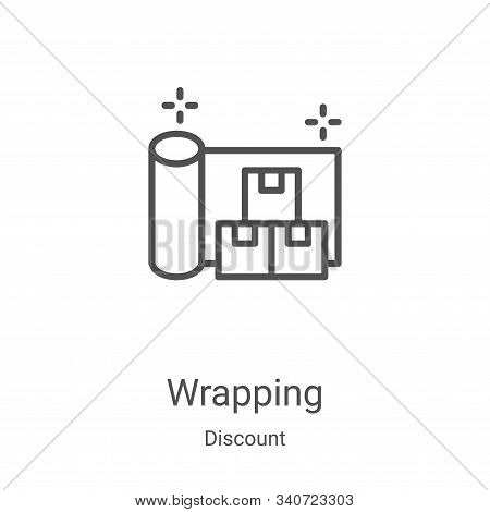 wrapping icon isolated on white background from discount collection. wrapping icon trendy and modern