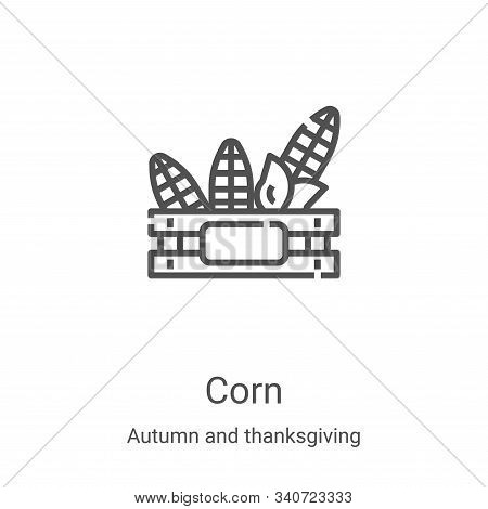 corn icon isolated on white background from autumn and thanksgiving collection. corn icon trendy and