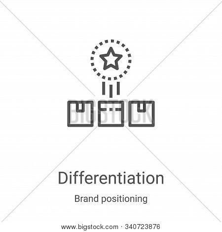 differentiation icon isolated on white background from brand positioning collection. differentiation