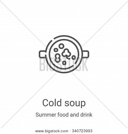 cold soup icon isolated on white background from summer food and drink collection. cold soup icon tr
