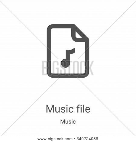 music file icon isolated on white background from music collection. music file icon trendy and moder