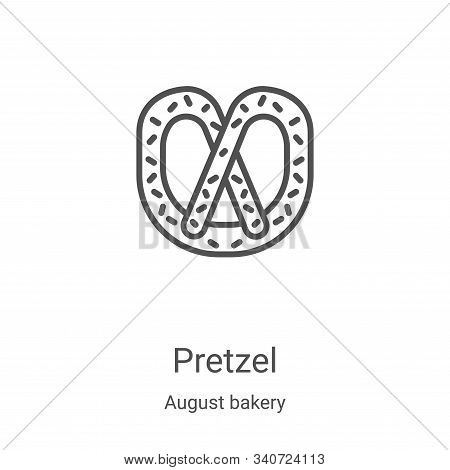pretzel icon isolated on white background from august bakery collection. pretzel icon trendy and mod
