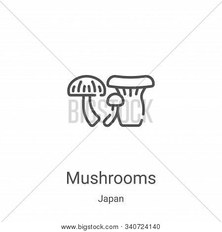 mushrooms icon isolated on white background from japan collection. mushrooms icon trendy and modern