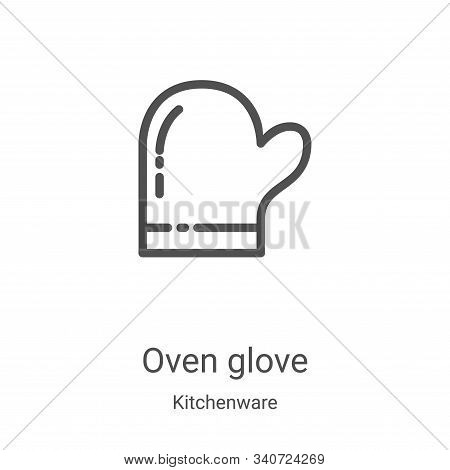 Oven glove icon isolated on white background from kitchenware collection. Oven glove icon trendy and