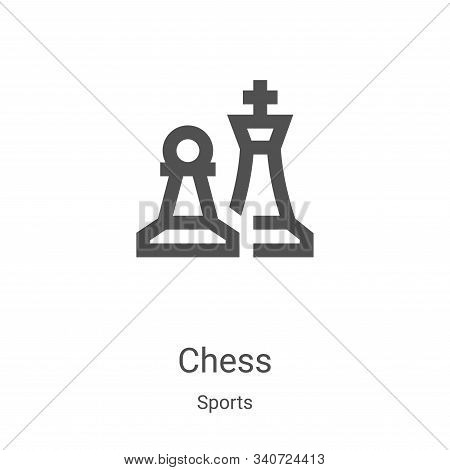 chess icon isolated on white background from sports collection. chess icon trendy and modern chess s