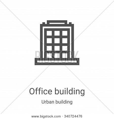 office building icon isolated on white background from urban building collection. office building ic