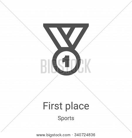 first place icon isolated on white background from sports collection. first place icon trendy and mo