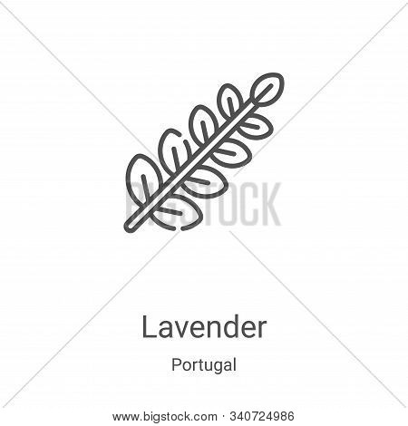 lavender icon isolated on white background from portugal collection. lavender icon trendy and modern