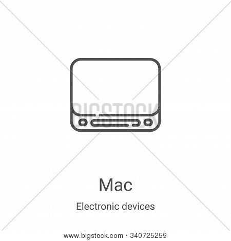 mac icon isolated on white background from electronic devices collection. mac icon trendy and modern