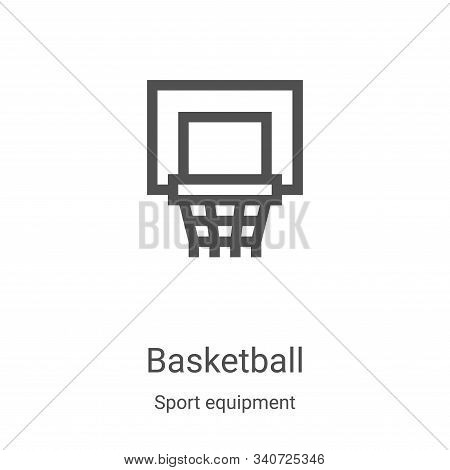 basketball icon isolated on white background from sport equipment collection. basketball icon trendy