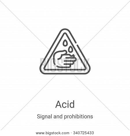 acid icon isolated on white background from signal and prohibitions collection. acid icon trendy and
