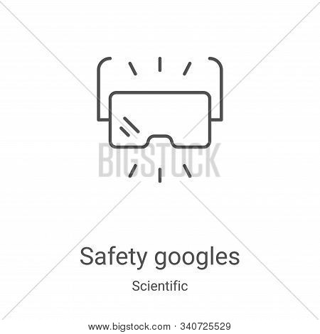 safety googles icon isolated on white background from scientific collection. safety googles icon tre