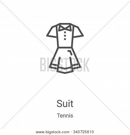 suit icon isolated on white background from tennis collection. suit icon trendy and modern suit symb