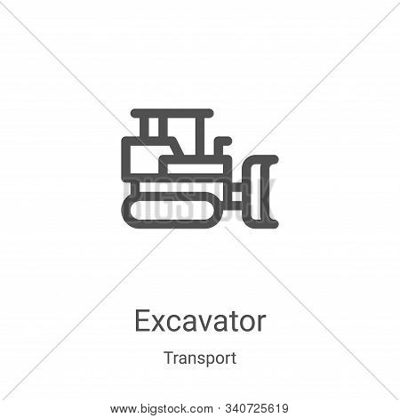excavator icon isolated on white background from transport collection. excavator icon trendy and mod