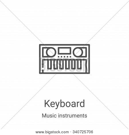 keyboard icon isolated on white background from music instruments collection. keyboard icon trendy a
