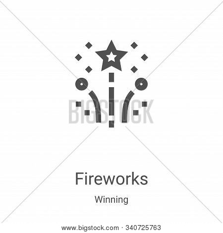 fireworks icon isolated on white background from winning collection. fireworks icon trendy and moder