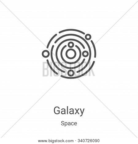 galaxy icon isolated on white background from space collection. galaxy icon trendy and modern galaxy