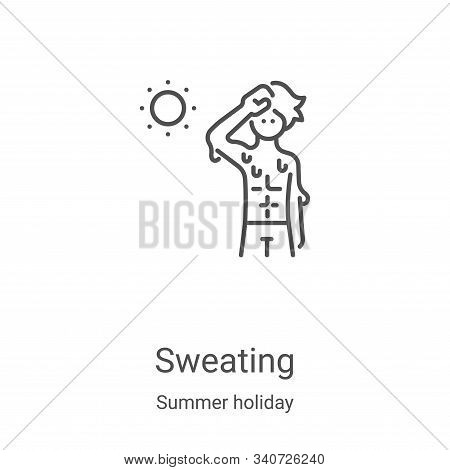 sweating icon isolated on white background from summer holiday collection. sweating icon trendy and