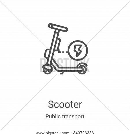 scooter icon isolated on white background from public transport collection. scooter icon trendy and