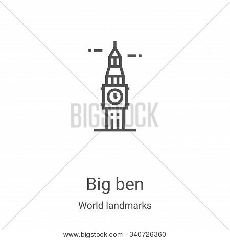 big ben icon isolated on white background from world landmarks collection. big ben icon trendy and m