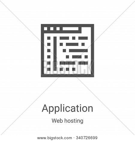 application icon isolated on white background from web hosting collection. application icon trendy a