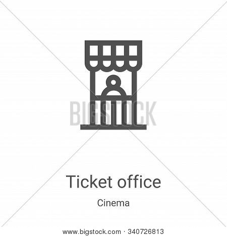 ticket office icon isolated on white background from cinema collection. ticket office icon trendy an