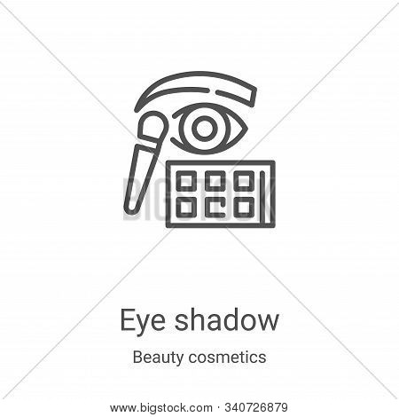 eye shadow icon isolated on white background from beauty cosmetics collection. eye shadow icon trend