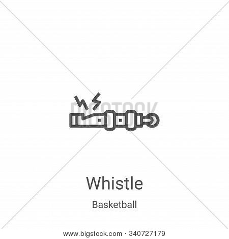 whistle icon isolated on white background from basketball collection. whistle icon trendy and modern