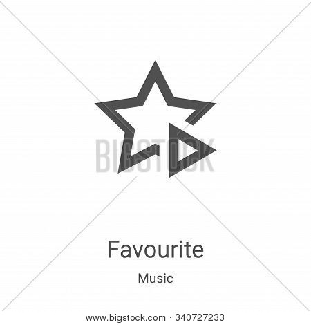favourite icon isolated on white background from music collection. favourite icon trendy and modern