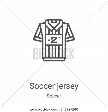 soccer jersey icon isolated on white background from soccer collection. soccer jersey icon trendy an