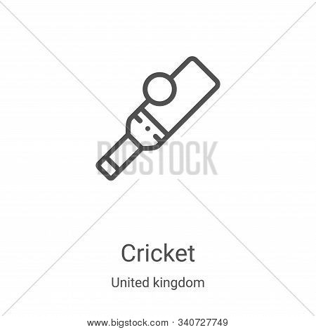 cricket icon isolated on white background from united kingdom collection. cricket icon trendy and mo
