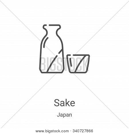Sake icon isolated on white background from japan collection. Sake icon trendy and modern Sake symbo